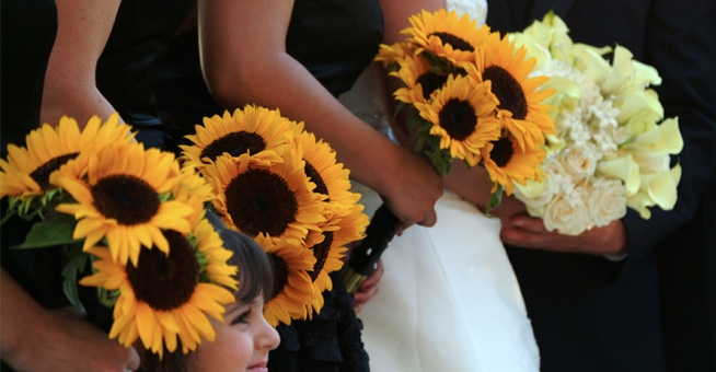 Image: Wedding Sun Flowers